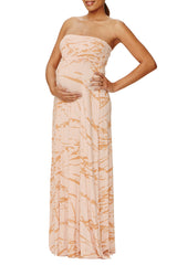 Strapless Caftan Dress Print - Champagne Reverie