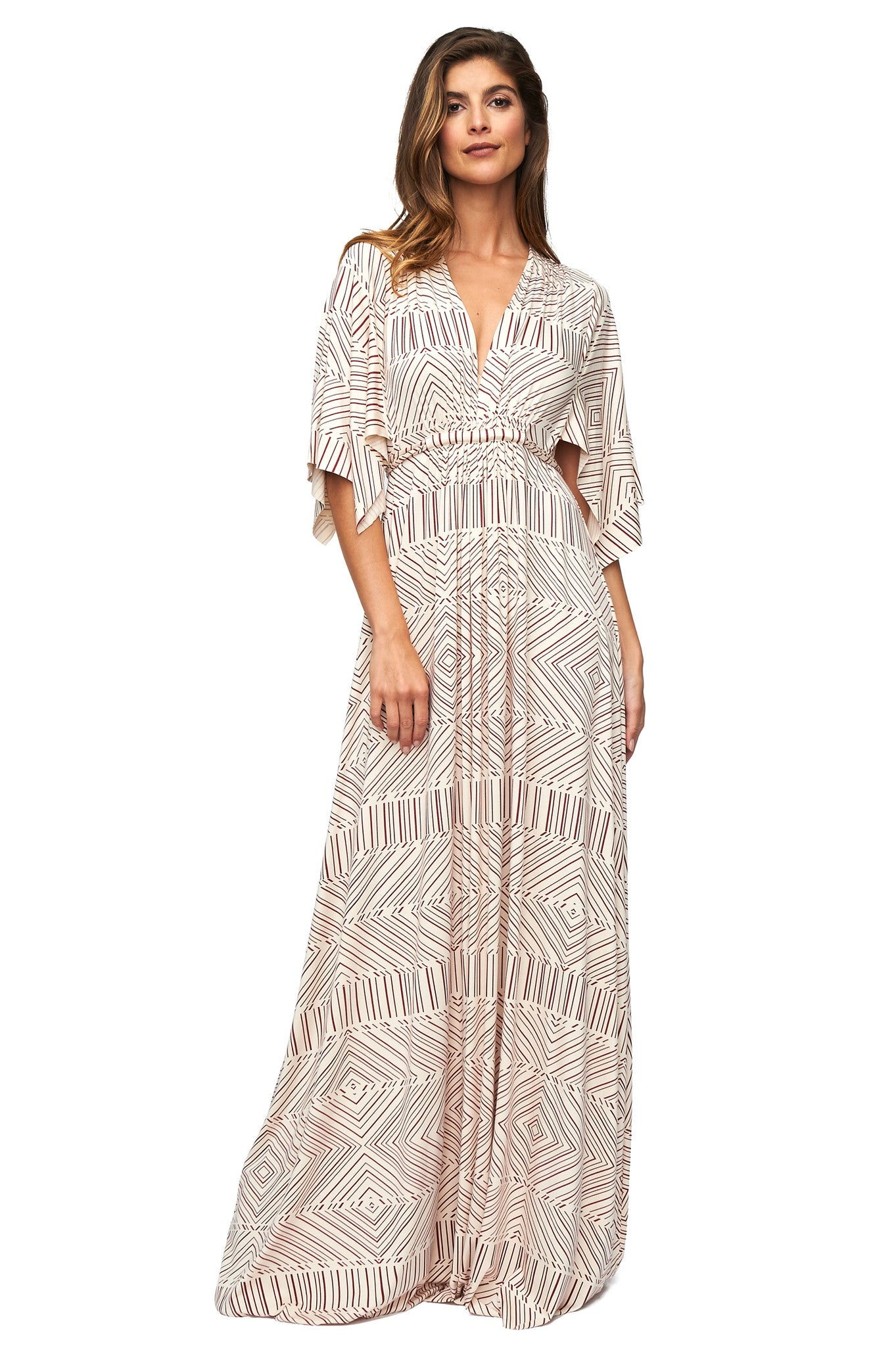 Long Caftan Dress - Heirloom Optic