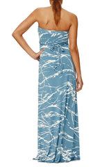 Strapless Caftan Dress Print - Moonflower Reverie