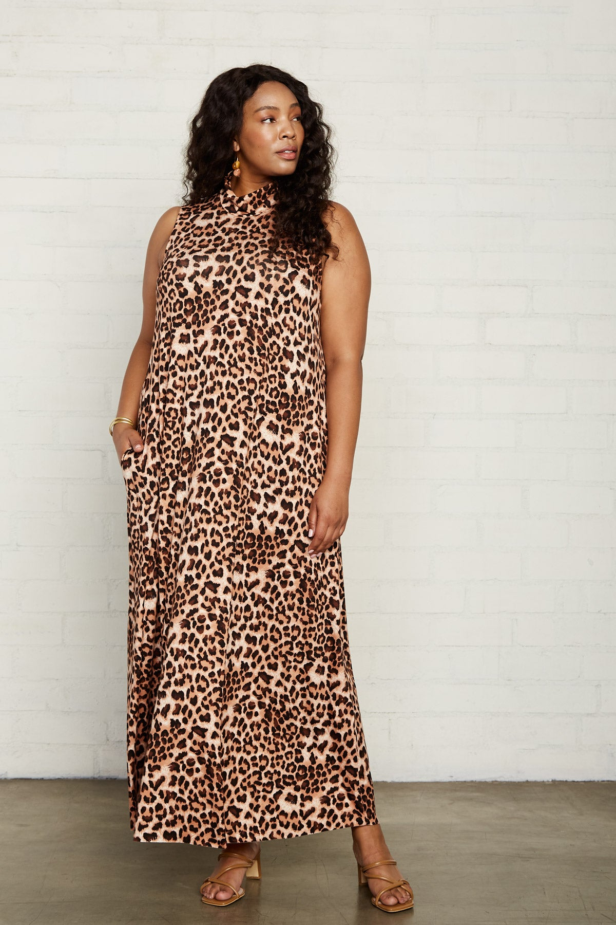 Cait Dress - Leopard, Plus Size