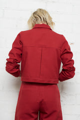 Canvas Gib Jacket - Pomegranate