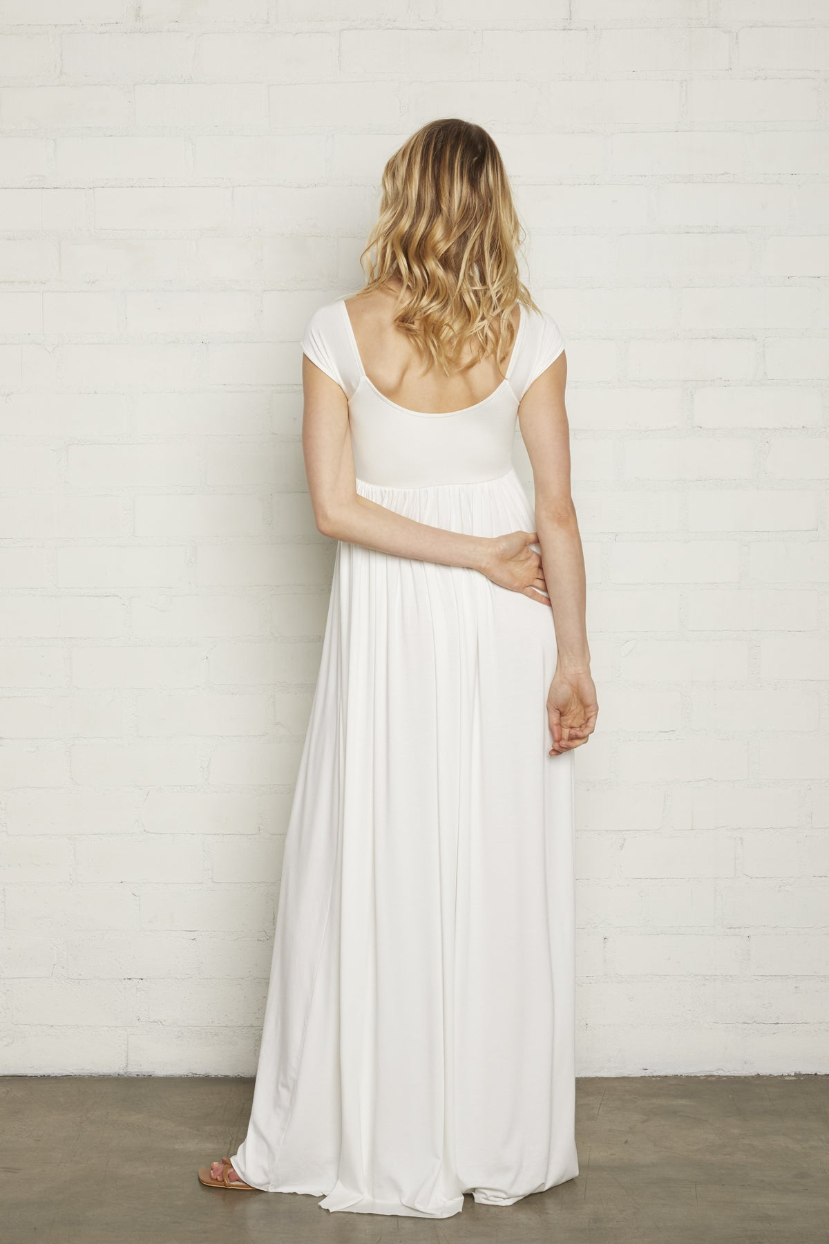 Cap Sleeve Isa Dress - White