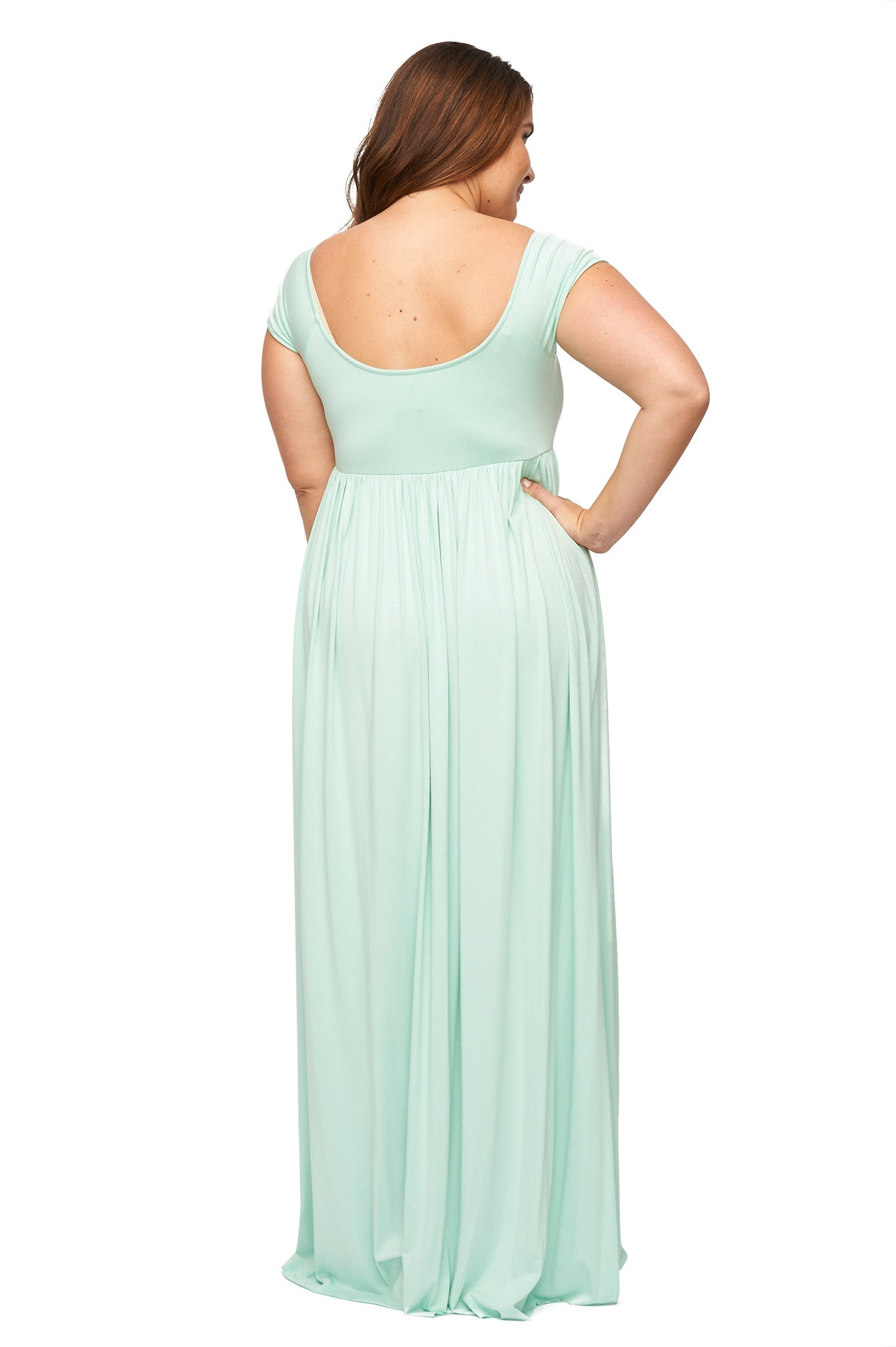 Cap Sleeve Isa Dress WL - Menthe