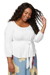 Catalina Top - White, Plus Size