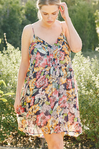 Chiffon Lola Dress - Bouquet