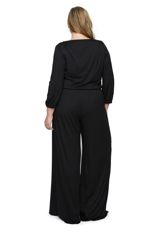 CLANCY JUMPSUIT WL - BLACK