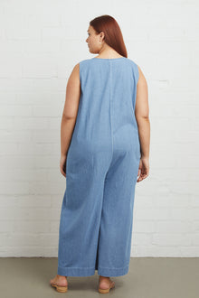 Cody Jumpsuit - Stonewash, Plus Size