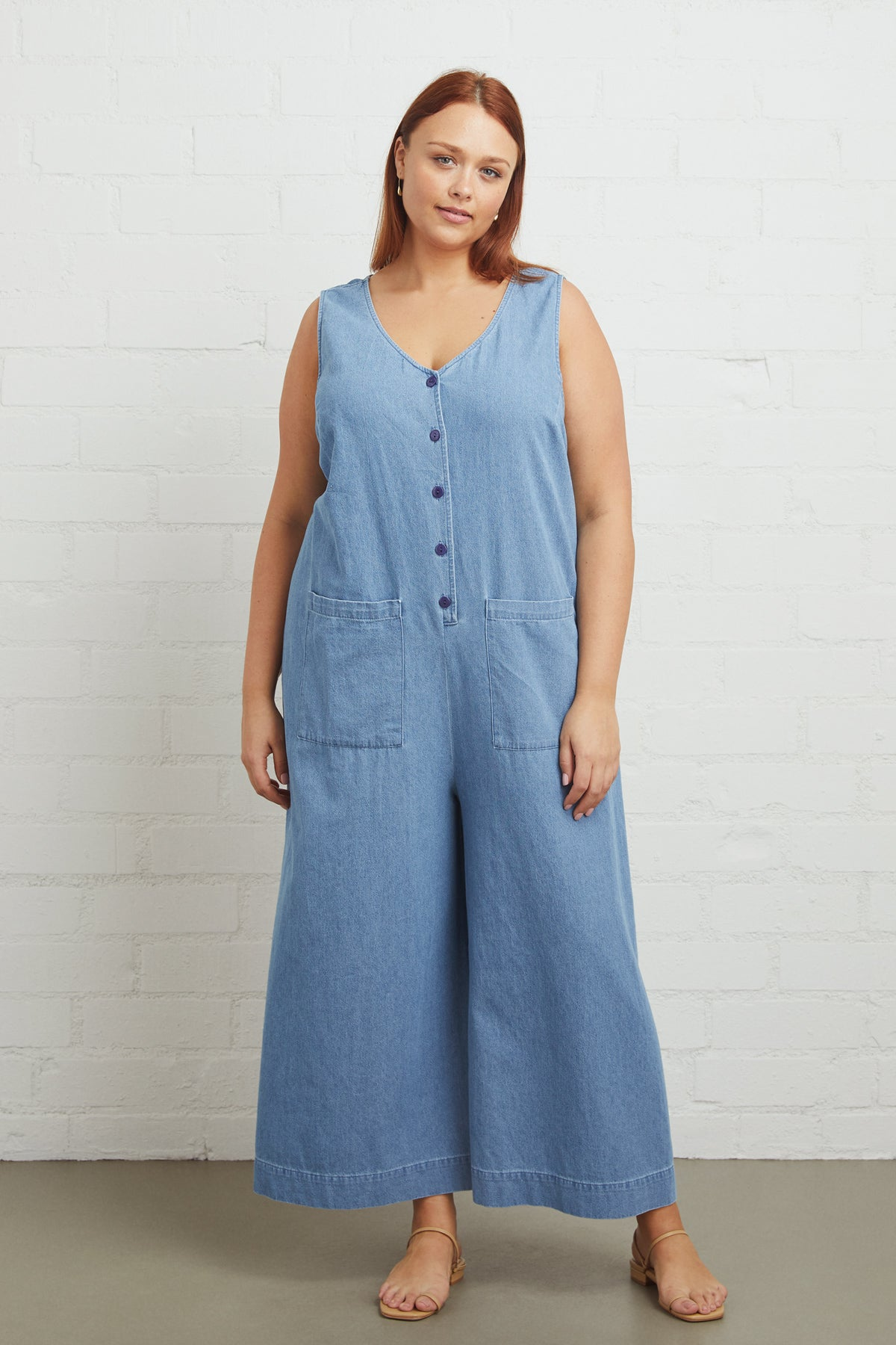 Cody Jumpsuit - Stonewash Chambray, Plus Size