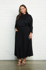 Constance Dress - Black, Plus Size