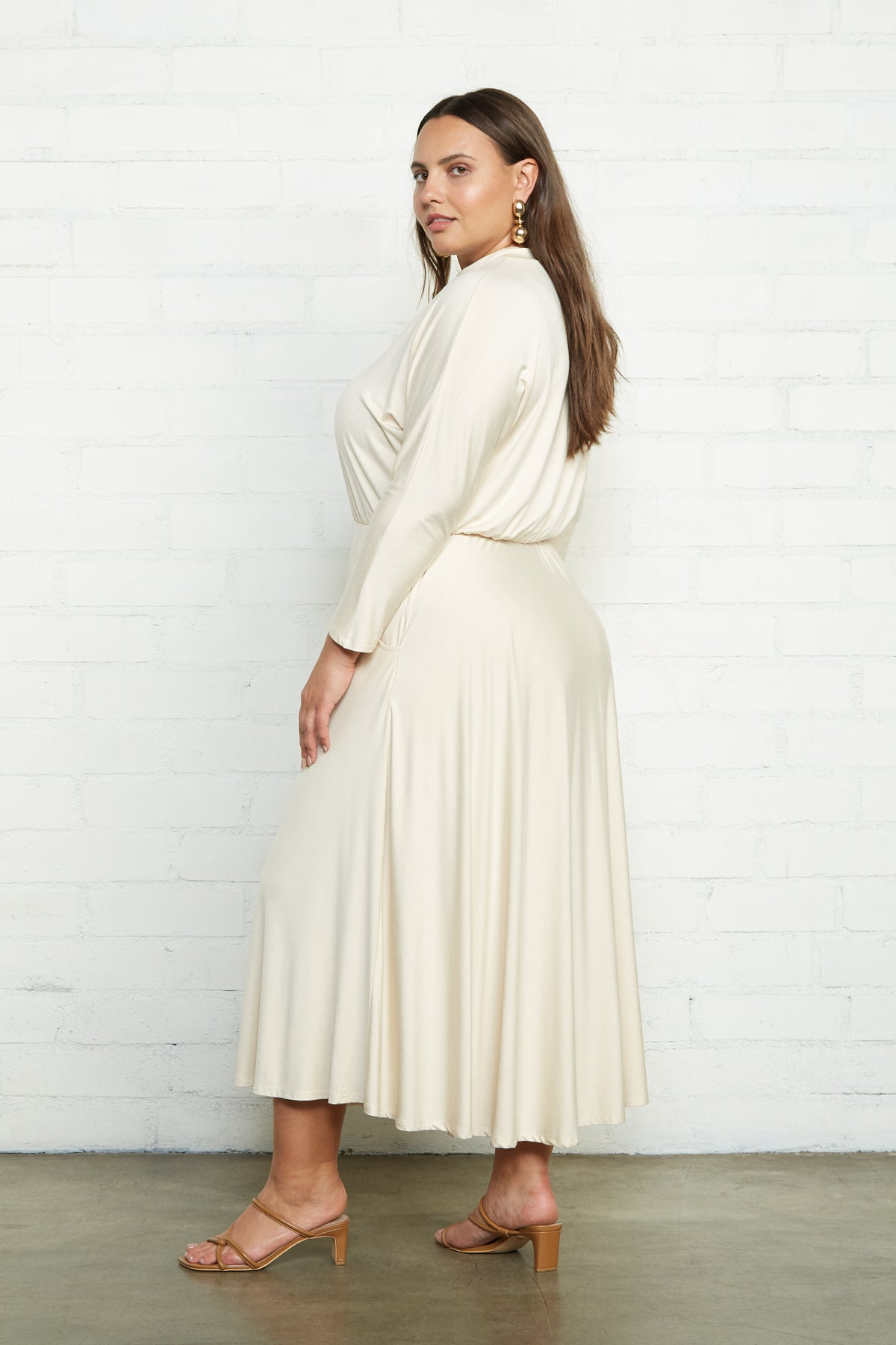 Constance Dress - Cream, Plus Size