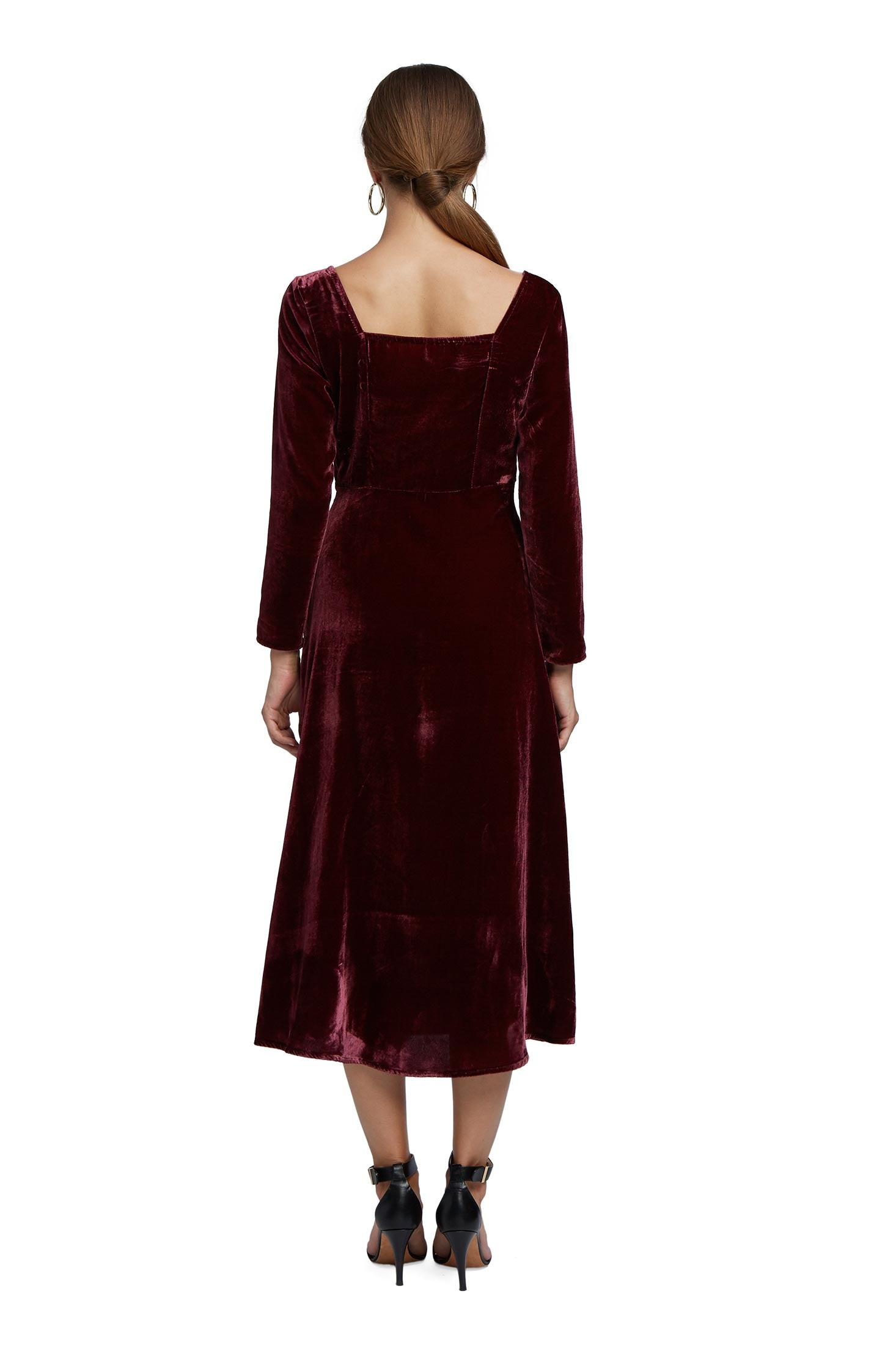 Coraline Dress - Bordeaux Velvet