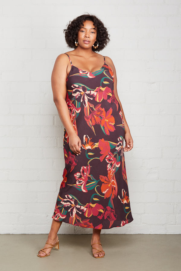 Crepe Bias Slip Dress - Plus Size