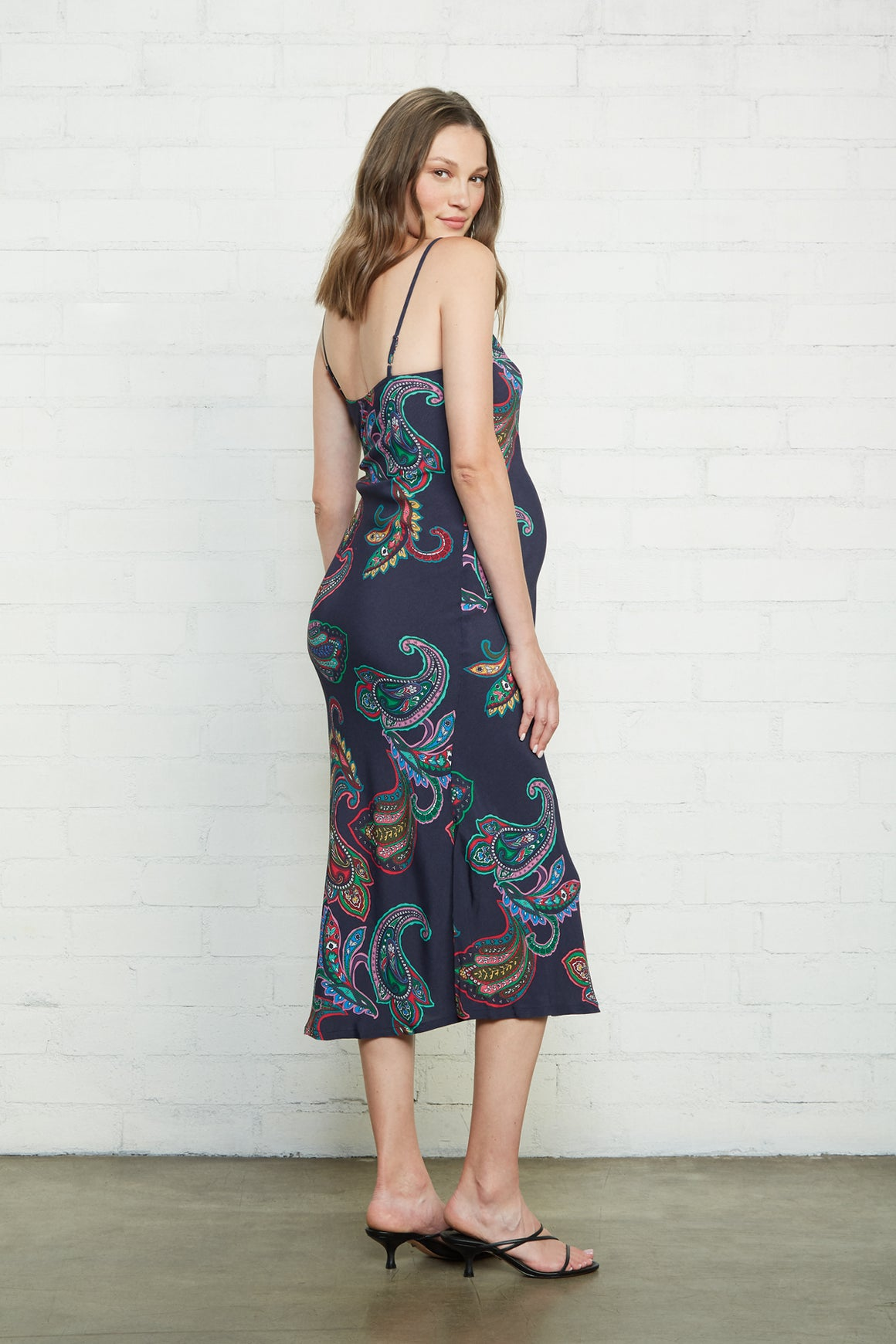 Crepe Bias Slip Dress - Maternity