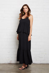 Crepe Chiffon Maude Dress - Noir, Maternity