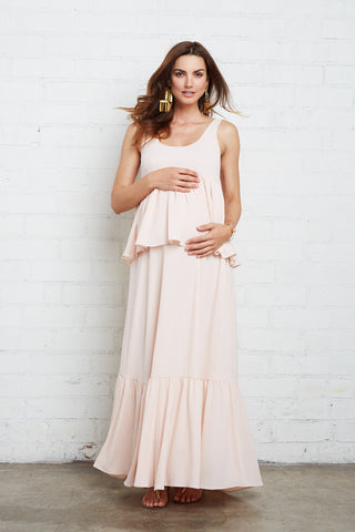 Crepe Chiffon Maude Dress - Shell, Maternity