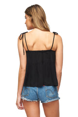 Crepe Kaiyo Top - Black