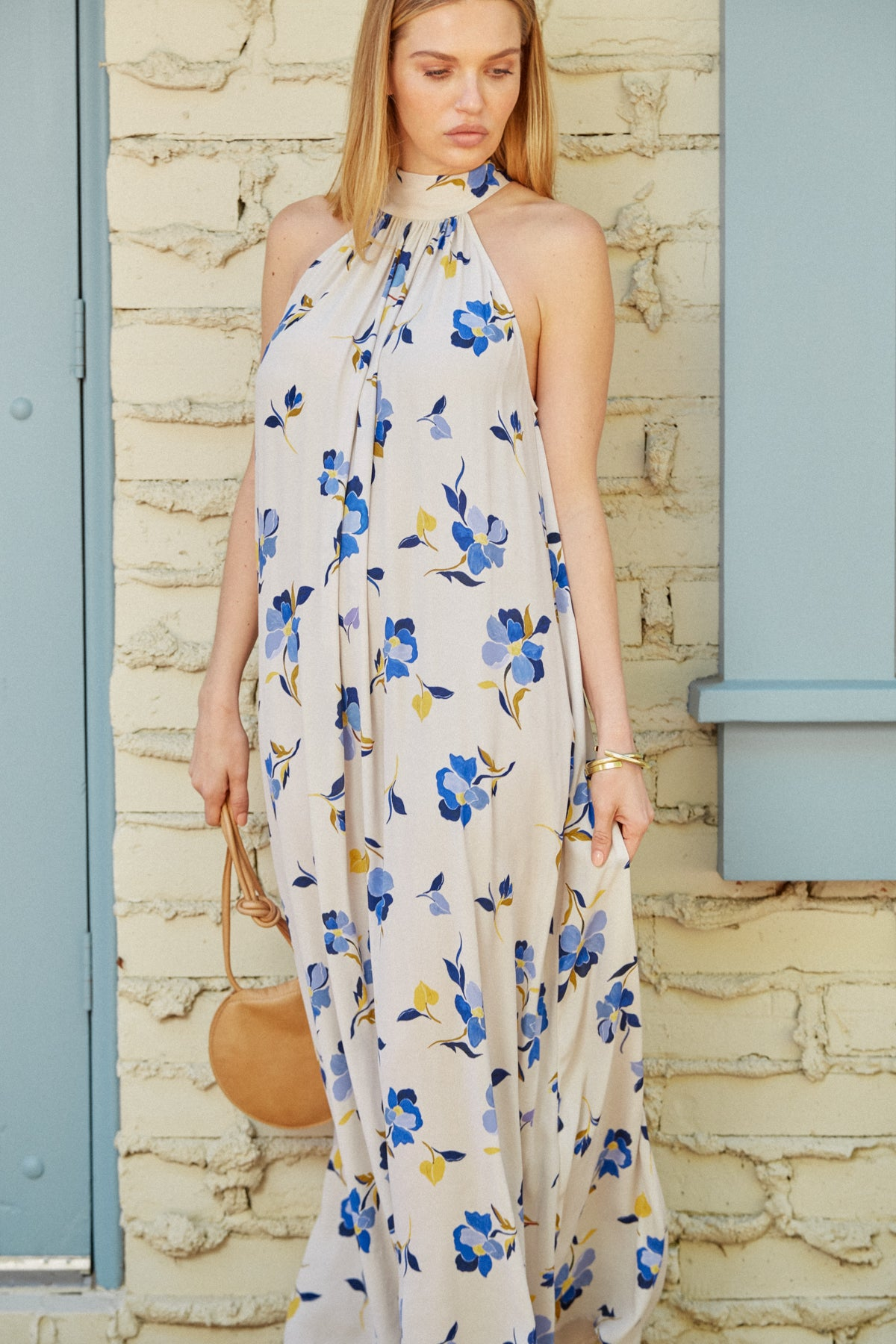Crepe Lotus Dress - Pansy