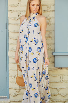 Crepe Lotus Dress