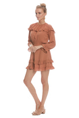 Crepe Rayon Maeve Dress - Terra Cotta
