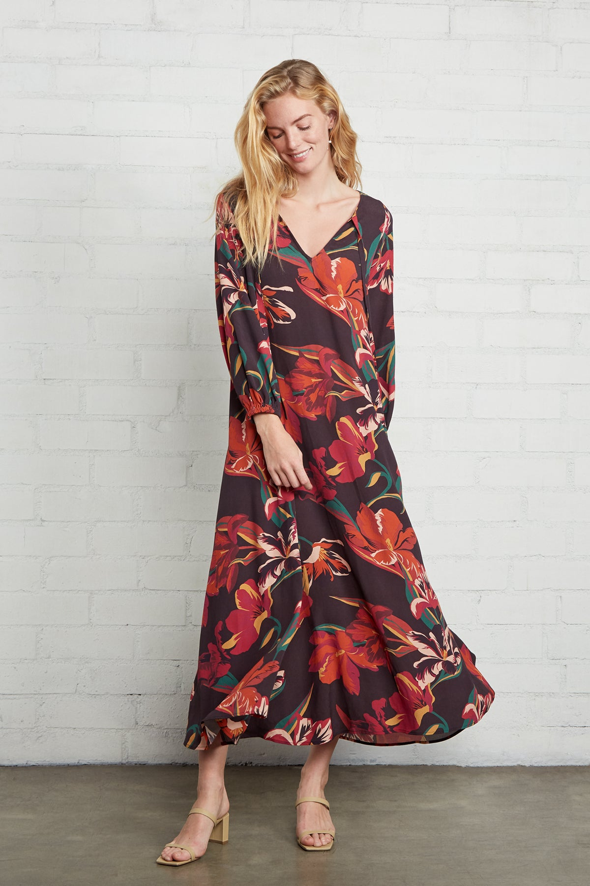 Crepe Manon Dress - Tulip