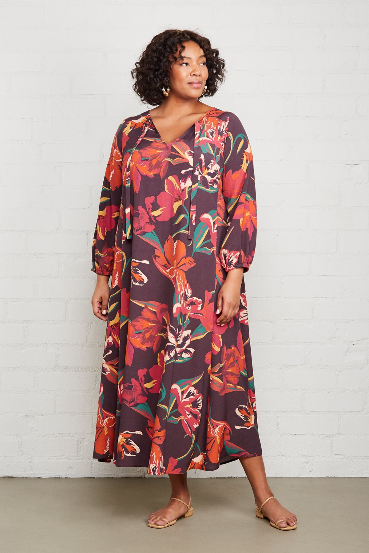 Crepe Manon Dress - Tulip, Plus Size