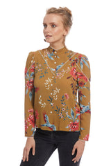 Crepe Rayon Bonnie Top - Avian