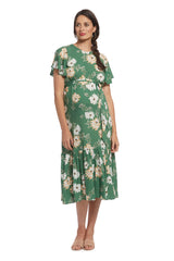 Crepe Rayon Reiss Dress - Zinnia, Maternity