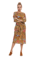 Crepe Rayon Reversible Ryan Dress - Avian
