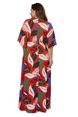 Crepe Rayon Willow Dress - Leaf, Plus Size