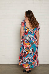 Crepe Sibil Dress - Tropic, Plus Size