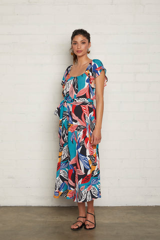 Crepe Sibil Dress - Tropic