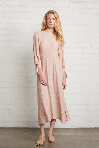 Crepe Tati Dress - Blush Dot