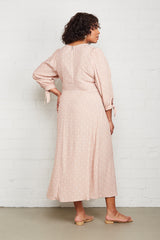 Crepe Tati Dress - Blush Dot, Plus Size