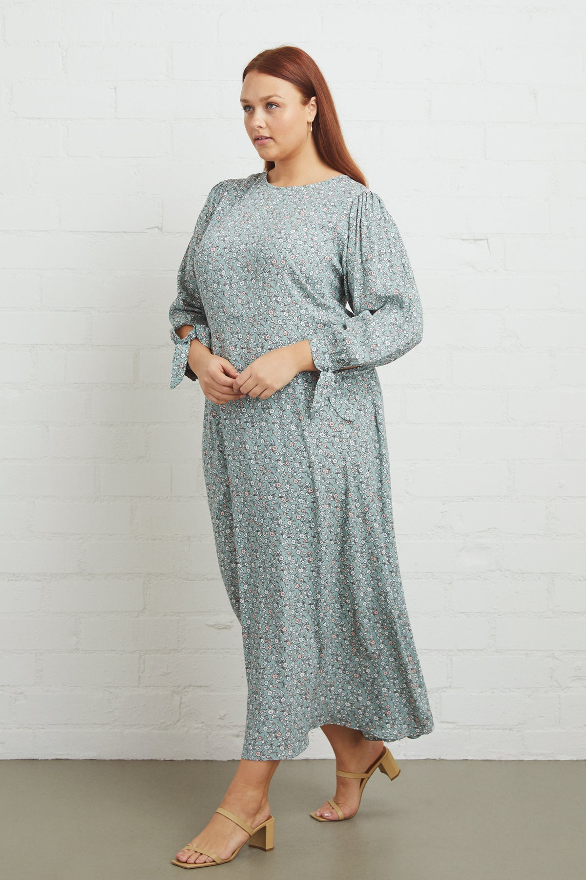 Crepe Tati Dress - Forget Me Not, Plus Size