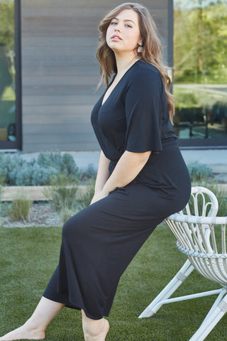 Crop Meridith Jumpsuit - Black, Plus Size