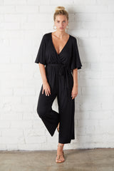 Crop Meridith Jumpsuit - Black