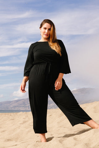 Vega Jumpsuit - Black, Plus Size