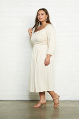 Dory Dress - Cream, Plus Size