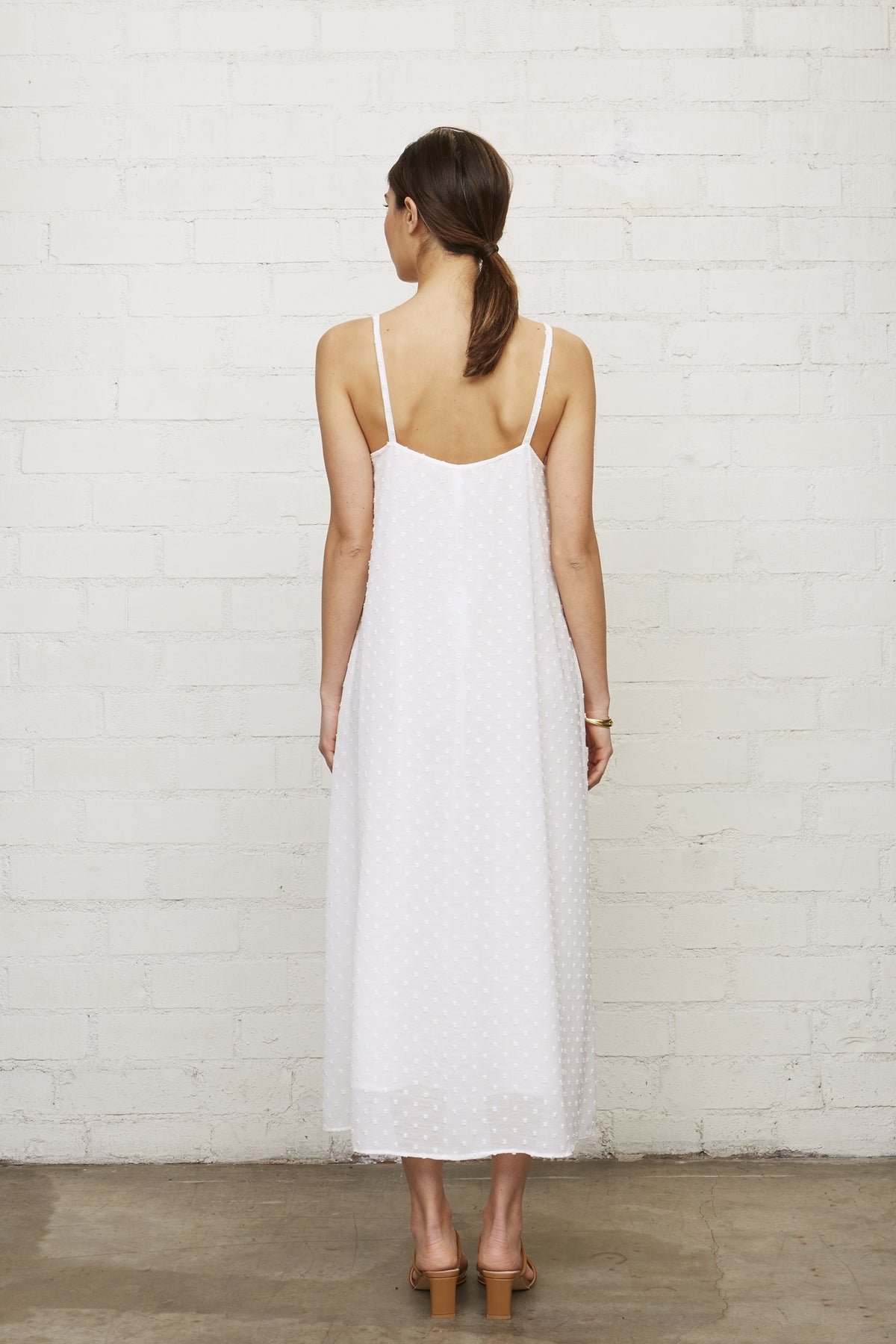 Dylan Dress - White Swiss Dot