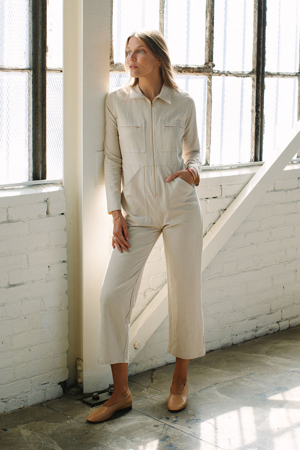 Linen Canvas Shelby Jumpsuit