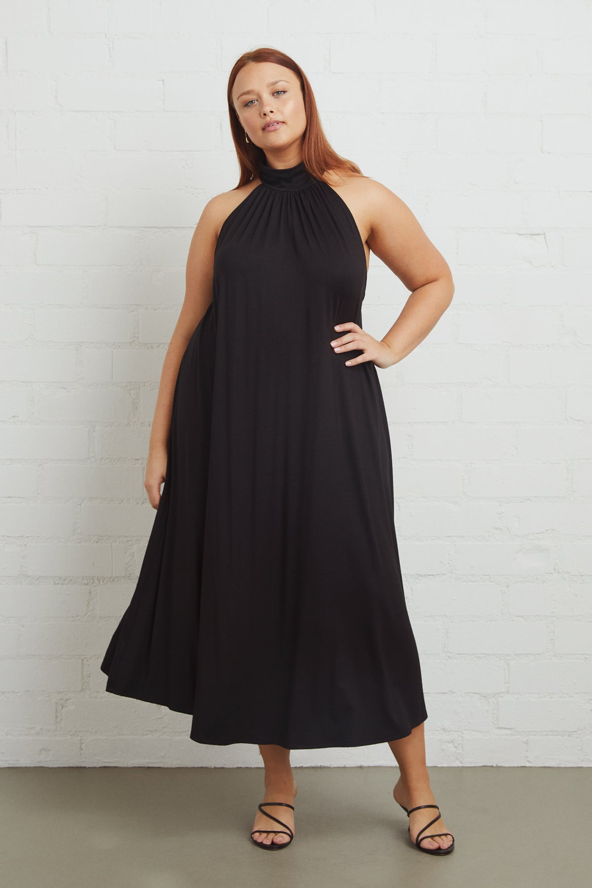 Enzo Dress - Black, Plus Size