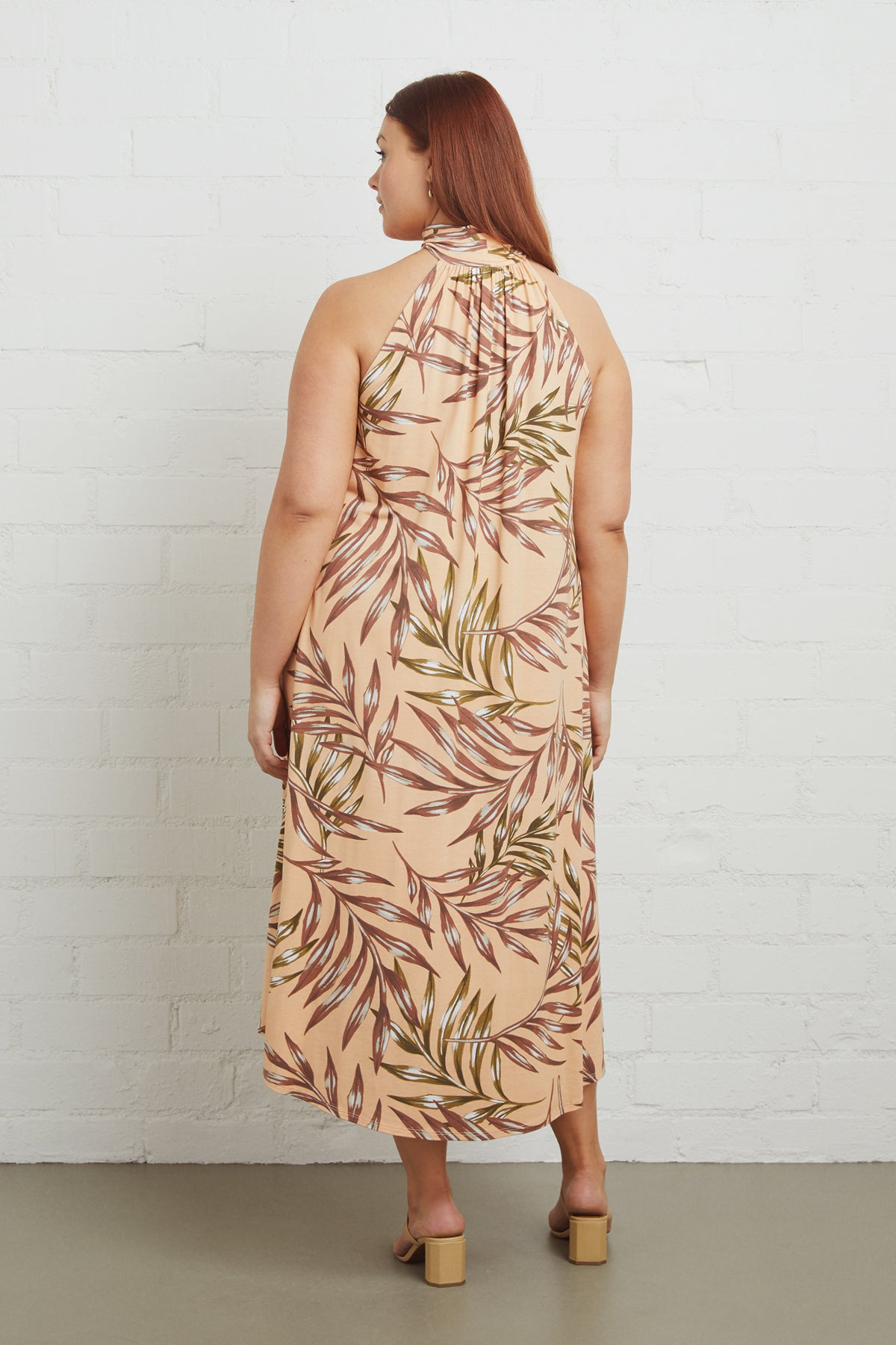 Enzo Dress - Palm, Plus Size