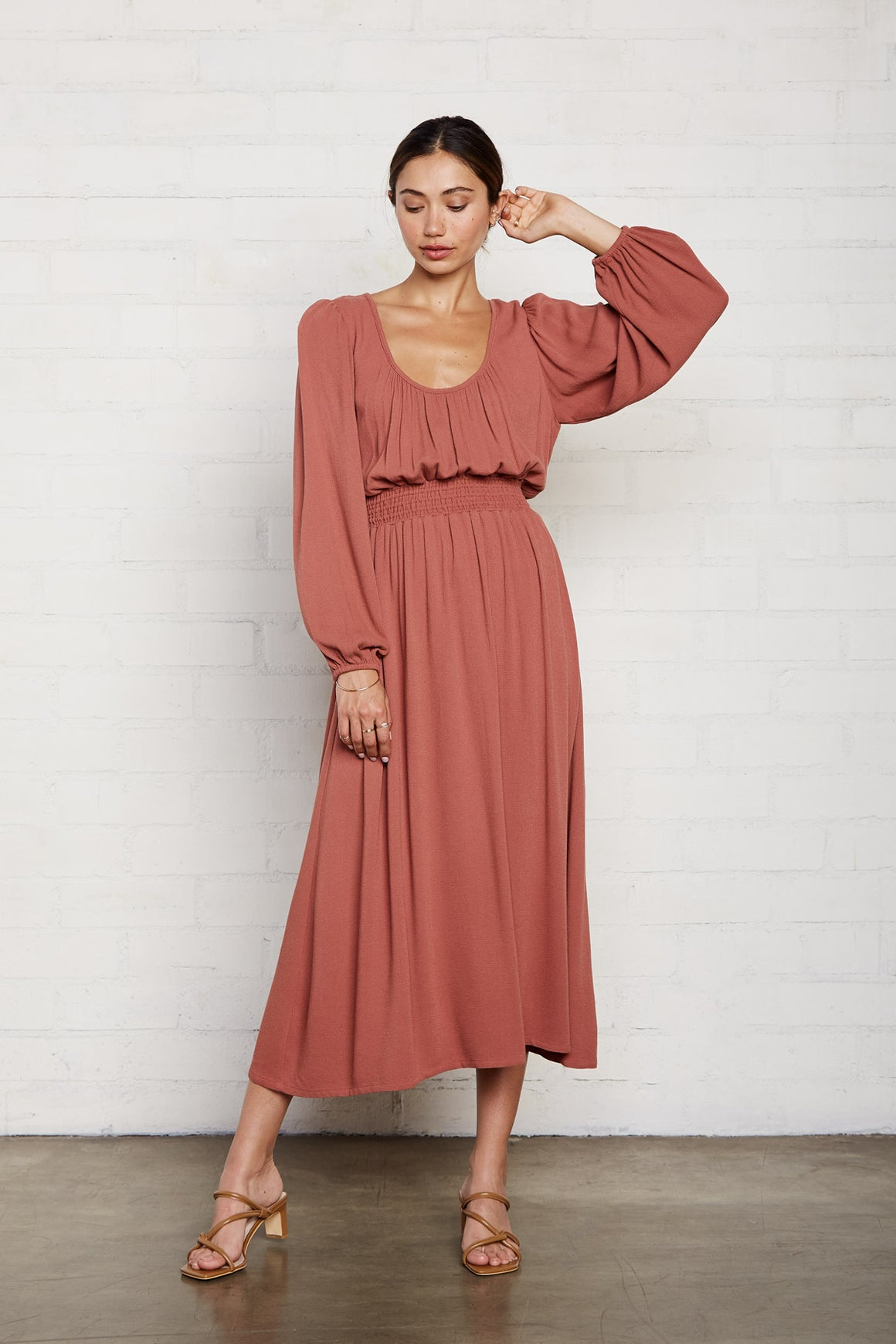 Pucker Rayon Edith Dress