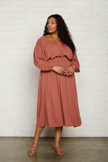 Pucker Rayon Edith Dress - Plus Size