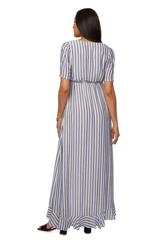 Empire Rayon Dress - Blue / White Stripe, Maternity