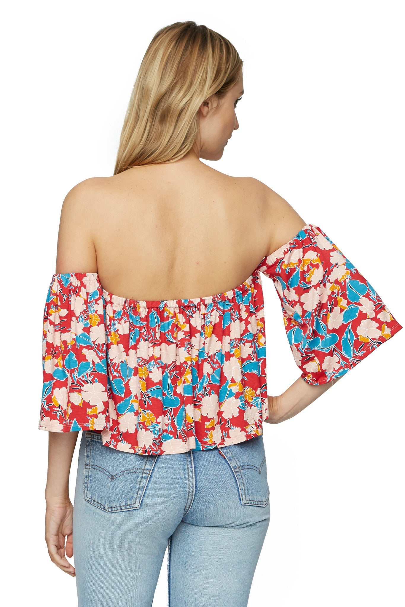 Esmeralda Top Print - Tropic