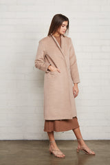 Brushed Felt Sonja Coat - Fawn