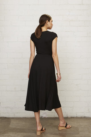 Frankie Wrap Dress - Black