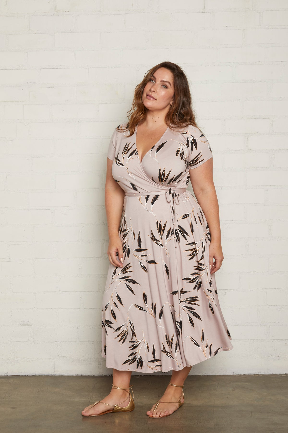 Frankie Wrap Dress - Cane, Plus Size