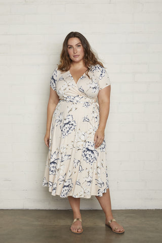 Frankie Wrap Dress - Fleur, Plus Size